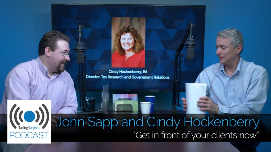John Sapp & Cindy Hockenberry Talk Tax Reform - EP5