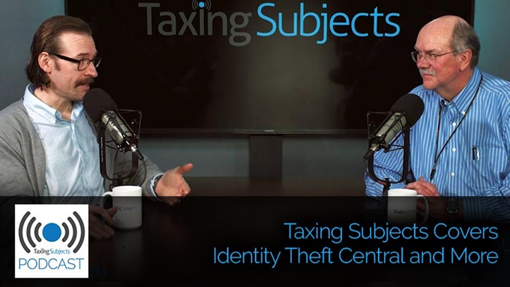 Taxing Subjects Covers Identity Theft Central and More - E39