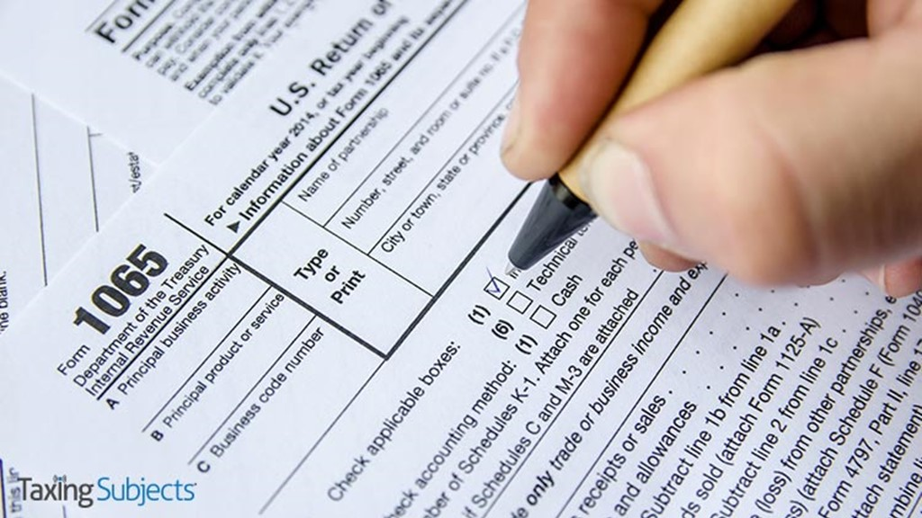 IRS Releases Draft Partnership Form to Provide Greater Clarity