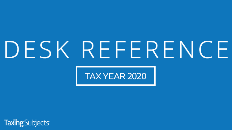 Tax Year 2020 Desk Reference Guide